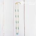 hp_n111 ビーチグラスのような天然石の14KGFネックレス Blue Sea Glass