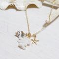hp_n38 14KGF コーラル&シェルネックレス♪ Ocean Jewelry