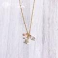 hp_n90 14KGF コーラル&クリスタルネックレス♪ Ocean Jewelry