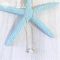hp_n91  白蝶貝の星がかわいい☆ 14KGF ラインネックレス Star