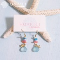hp_p140 シェル・珊瑚・天然石の14KGFピアス  Sea Style