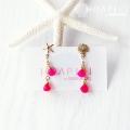 hp_p94 天然石の14KGFピアス Pink Candy