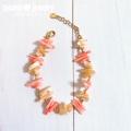 moana_b110 マザーオブパール、珊瑚のブレスレット Sunshine Beach