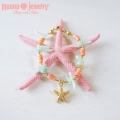 moana_b49 Pink Coral&Blue Coralのブレスレット Coral&Sea Star