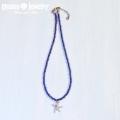 moana_n41 深海カラーのビーズネックレス Sea Star