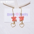 moana_p150 ラインピアス Pink Coral&Heart
