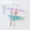 moana_p221 ブルーオパール・珊瑚・ゴールドバーのピアス BLUEOPAL&PINKCORAL