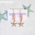 moana_p234 珊瑚とヒトデのピアス PINKCORAL&STARFISH