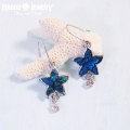 moana_p236 オパールピアス Starfish