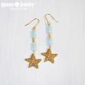 moana_p272 スターフィッシュチャームのピアス Star Fish