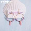 moana_p296 貝のフープピアス Lavender&Pink