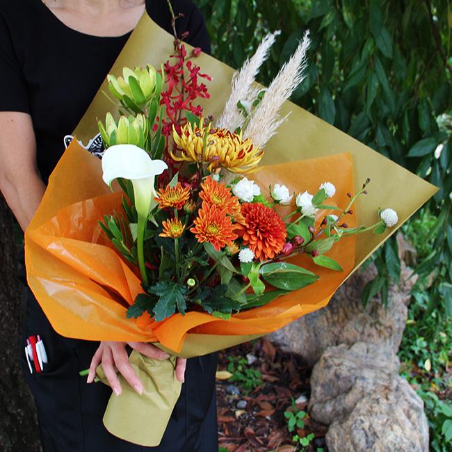 秋のマムミックス花束5000円