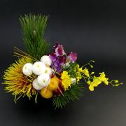 和室に最適!手まり菊の京風アレンジメント