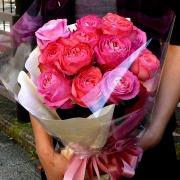 送料無料!プロポーズにオススメ!ダーズンローズピンクの花束8500円