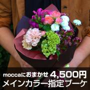送料無料!Moccaにおまかせ メインカラー指定ブーケ4500円
