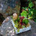 箱庭を思わせる秋のアレンジメント