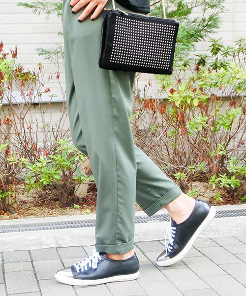 【SALE】スタッズポシェットチェーンバッグ/3カラー