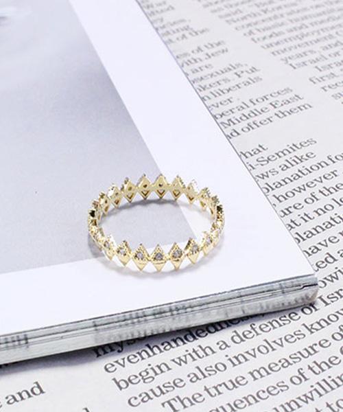 【SALE】ジャギーリング 指輪 /2カラー