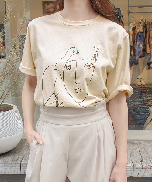 【SALE】プリントTシャツ/3カラー