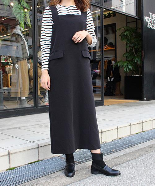 【SALE】シンプルジャンパースカート/2カラー