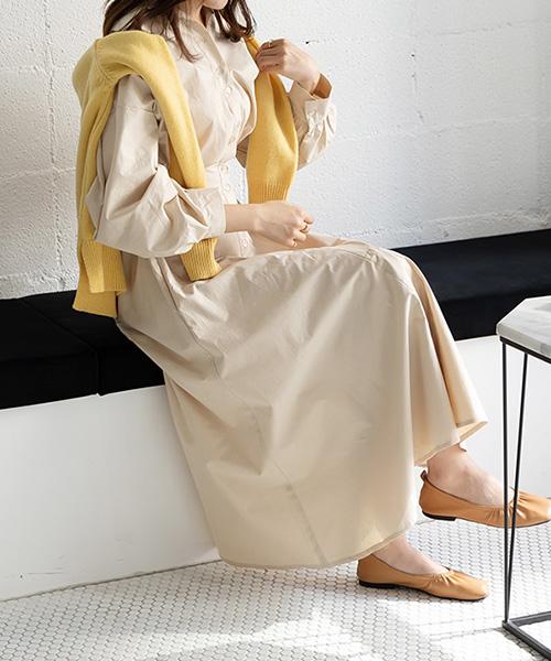 【SALE】2WAYシャツワンピース/3カラー