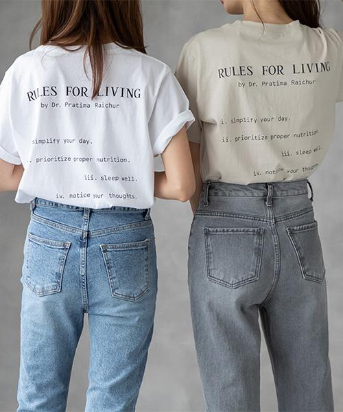 バックロゴTシャツ/2カラー