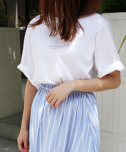 シンプルロゴTシャツ/3カラー