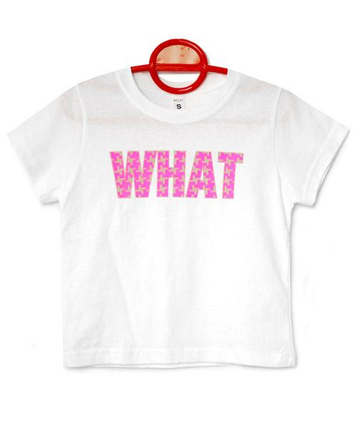 ≪Kids≫ポップロゴプリントビビッドカラー半袖Tシャツ/3カラー