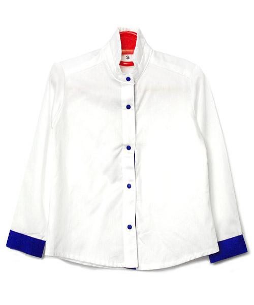 ≪Kids≫バイカラースタンドカラーシャツ/1カラー