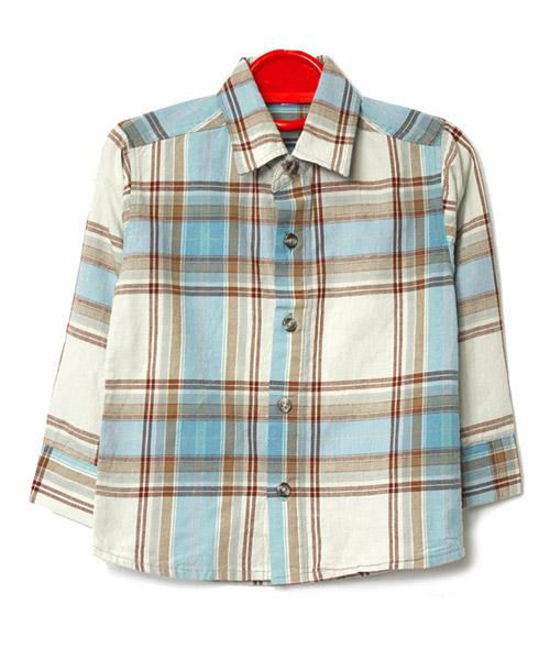 【SALE】≪Kids≫チェック柄シンプルシャツ/2カラー