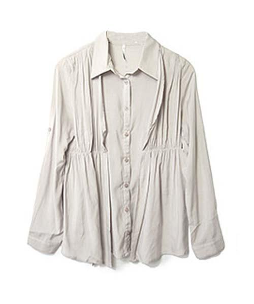 【SALE】レイヤード風ドレープシャツ/3カラー