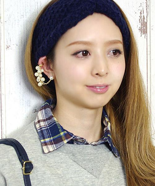 【SALE】★片耳用 パールイヤーカフ&ピアス/1カラー