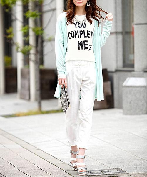 【SALE】シアーメッセージプリントクルーネックTシャツ/3カラー