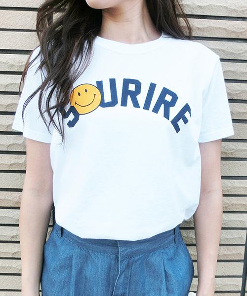 【SALE】スマイルロゴプリントTシャツ