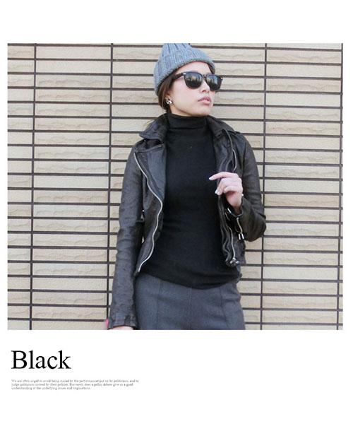 【SALE】シンプルタートルネック ニットトップス/4カラー