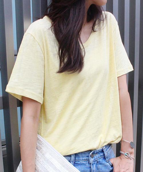 【SALE】スラブTシャツ 無地/7カラー