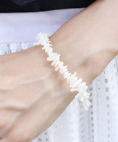 【SALE】サンゴモチーフストーンブレスレット