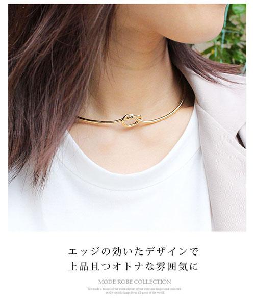 【SALE】ノットネックカフ チョーカー/2カラー