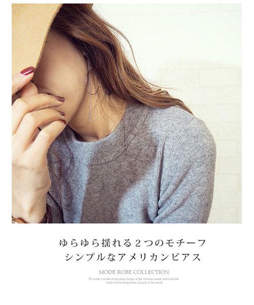 【SALE】mihi erikaコラボ★サークルアメリカンピアス/2カラー