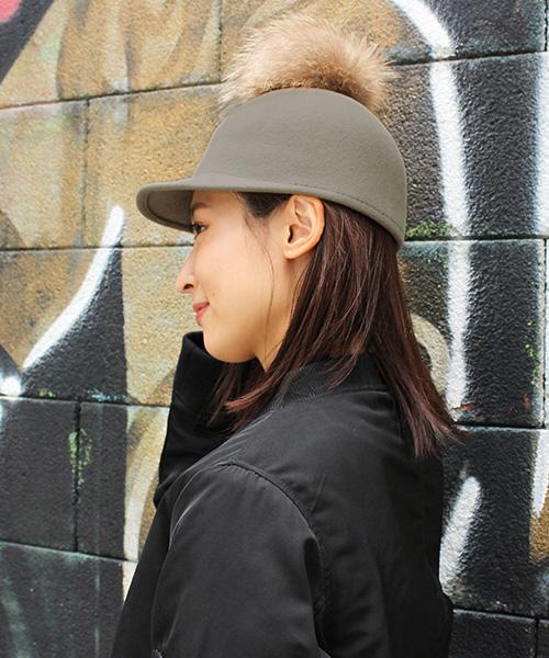 【SALE】ラクーンファーウールキャップ/3カラー