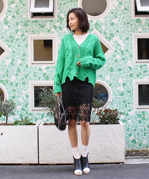【SALE】コードレーススカート/2カラー