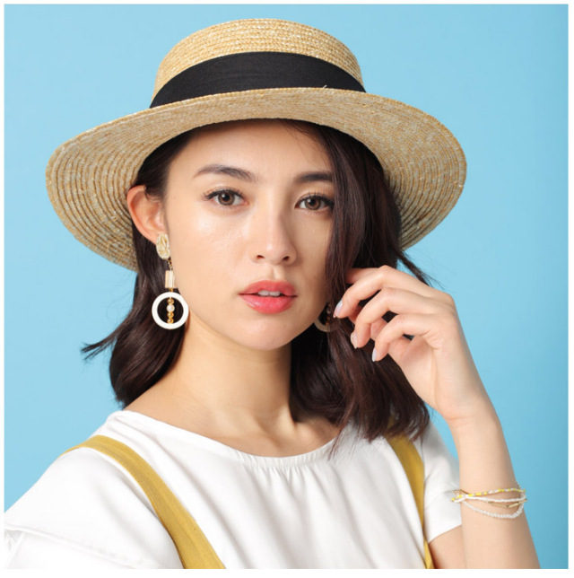 ロングリボン カンカン帽/5カラー