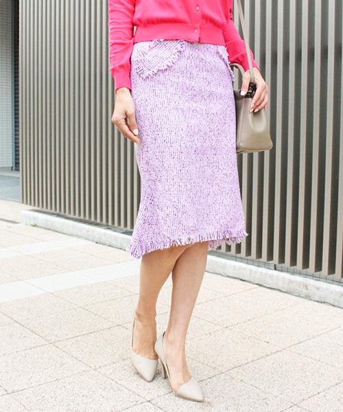 【SALE】ツイードスカート/2カラー