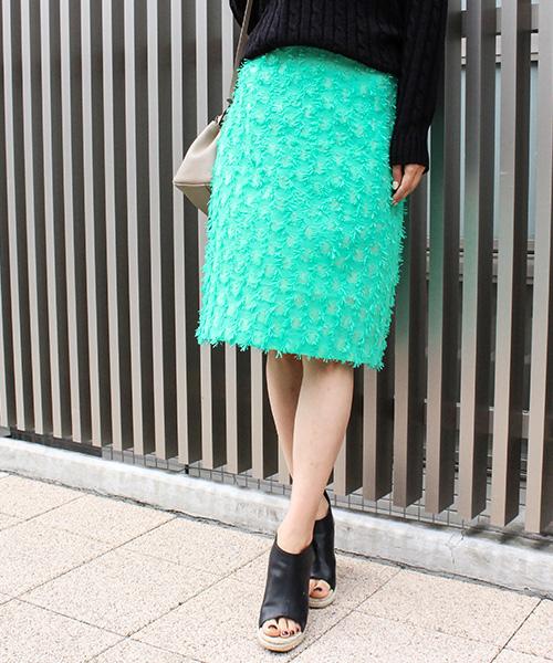 【SALE】ドットカラータイトスカート/2カラー