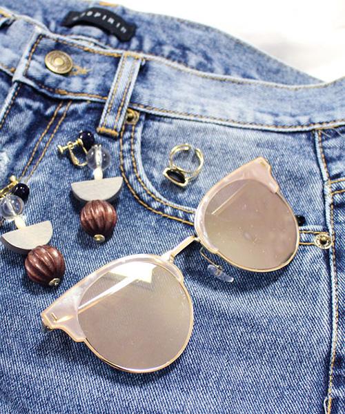 【SALE】リムプレートカラーサングラス/2カラー