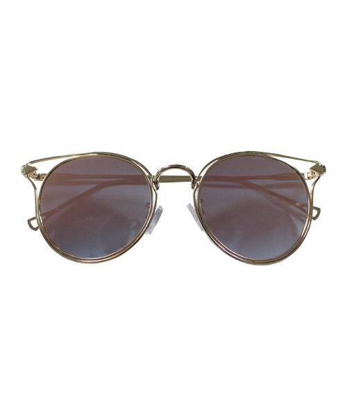 ダブルフレームカラーサングラス/3カラー
