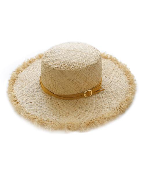 マスタードリボンベルト  フリンジカンカン帽 /1カラー