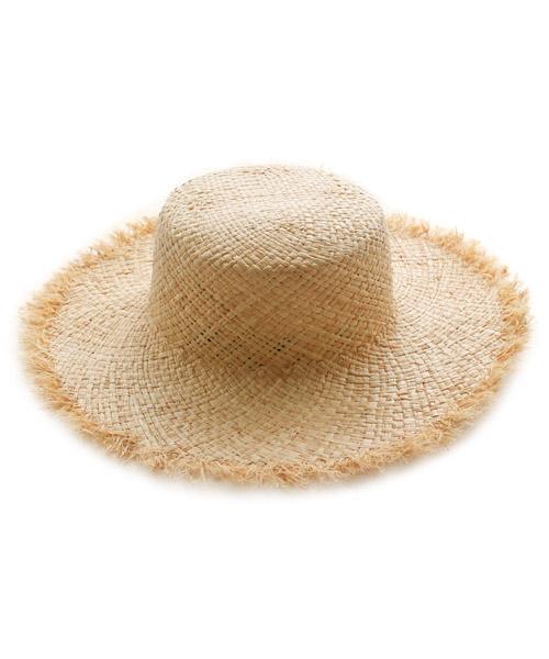 シンプルフリンジカンカン帽 ストローハット/1カラー