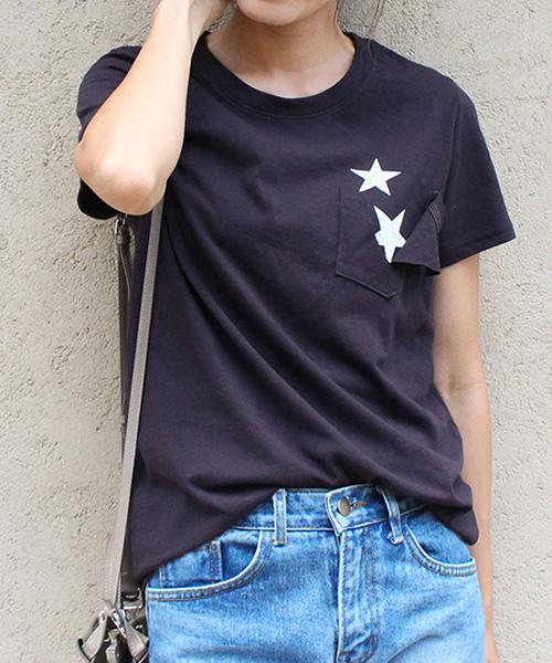 スターポケットTシャツ/4カラー