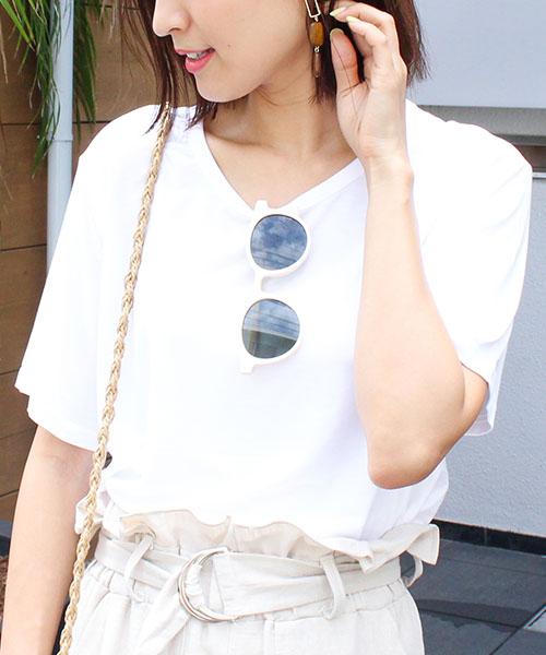 【SALE】クルーネックシンプル無地Tシャツ /4カラー